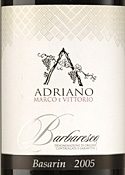Marco & Vittorio Adriano Basarin Barbaresco 2005, Docg Bottle