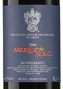 Tenute Cisa Asinari Dei Marchesi Di Gresy Merlot Da Solo 2004, Doc Monferrato, Estate Btld. Bottle
