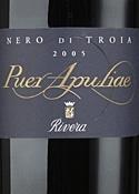 Rivera Nero Di Troia Puer Apuliae 2005, Doc Castel Del Monte Bottle