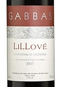 Gabbas Lillové Cannonau Di Sardegna 2007, Doc Bottle