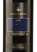 Barone Ricasoli Casalferro 2001, Igt Toscana Bottle