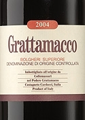 Collemassari Grattamacco 2004, Doc Bolgheri Superiore Bottle