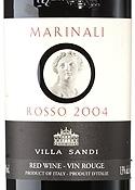 Villa Sandi Marinali Rosso 2004, Igt Marca Trevigiana Bottle