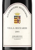 Guerrieri Rizzardi Villa Rizzardi Amarone Della Valpolicella Classico 2003, Estate Bottled, Doc Bottle