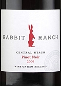 Rabbit Ranch Pinot Noir 2008, Central Otago Bottle