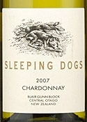 Sleeping Dogs Chardonnay 2007, Central Otago, South Island, Blair Gunn Block Bottle