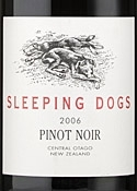 Sleeping Dogs Pinot Noir 2006, Central Otago, South Island Bottle