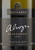 Ngatarawa Alwyn Chardonnay 2007, Hawkes Bay, North Island Bottle