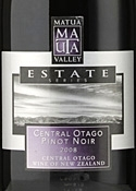 Matua Valley Estate Series Pinot Noir 2008, Central Otago, South Island Bottle