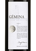 Gemina Cuvée Selección 2004, Do Jumilla Bottle