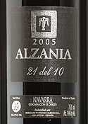 Alzania 21 Del 10 2005, Do Navarra Bottle