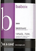 Buil & Giné B Baboix 2005, Do Montsant Bottle