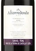 Altorredondo 2005, Vino De La Tierra De Castilla Y Léon Bottle