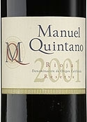 Manuel Quintano Reserva Especial 2001, Estate Btld. Bottle