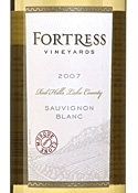Fortress Sauvignon Blanc 2007, Red Hills Lake County Bottle