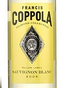 Francis Coppola Diamond Collection Yellow Label Sauvignon Blanc 2008, California Bottle