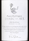 Francis Ford Coppola Director's Pinot Noir 2008, North Coast Bottle