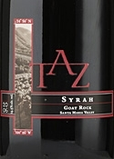 Taz Goat Rock Syrah 2006, Santa Maria Valley Bottle