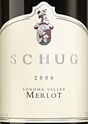 Schug Merlot 2006, Sonoma Valley Bottle