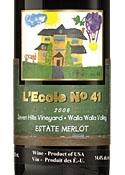 L'ecole No. 41 Seven Hills Vineyard Estate Merlot 2006, Walla Walla Valley Bottle