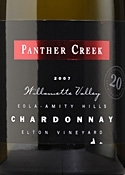 Panther Creek Elton Vineyard Chardonnay 2007, Willamette Valley Bottle