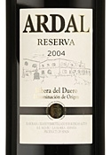 Ardal Reserva 2004, Do Ribera Del Duero Bottle