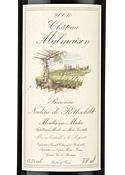 Chateâu Malmaison 2006, Ac Moulis En Médoc, Baronne Nadine De Rothschild Bottle