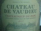 Chateau De Vaudieu Bottle