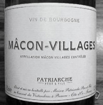 Patriarche Chardonnay Macon Villages 2008 Bottle