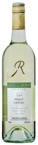 Westend Estate Richland Pinot Grigio 2009, Riverina, New South Wales Bottle