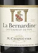 M. Chapoutier La Bernardine Châteauneuf Du Pape 2007, Ac Bottle
