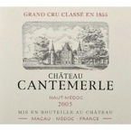 Chateau Cantemerle 2009 Bottle