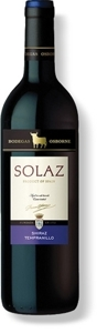 Osborne Solaz Shiraz Tempranillo 2007 Bottle