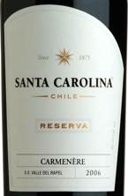 Santa Carolina Carmenère 2005, Rapel Valley Bottle