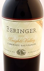 Beringer Knights Valley Cabernet Sauvignon 2000 Bottle