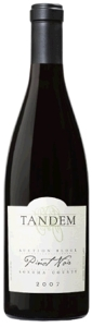 Tandem Auction Block Pinot Noir 2007, Sonoma Coast Bottle