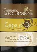 Domaine La Fourmone Ceps D'or Vacqueyras 2005, Ac Bottle