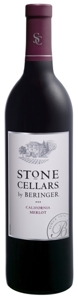 Beringer Stone Cellars Merlot 2007, California Bottle