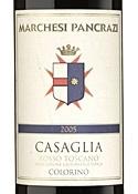 Marchesi Pancrazi Casaglia Colorino 2005, Igt Toscana Bottle