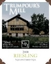 Trumpour's Mill Riesling 2008, Ontario Bottle
