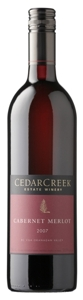 CedarCreek Cabernet Merlot 2007, BC VQA Okanagan Valley Bottle