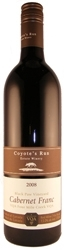 Coyotes Run Cabernet Franc Black Paw Vineyard 2008, Four Mile Creek Bottle