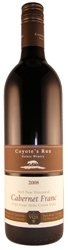 Coyotes Run Cabernet Franc Red Paw Vineyard 2008, Four Mile Creek Bottle