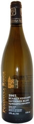 Peninsula Ridge Mcnally Sauvignon Blanc 2007, Niagara Peninsula Bottle
