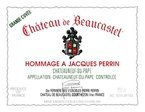 Chateau De Beaucastel Hommage A Jacques Perrin 2007 Bottle