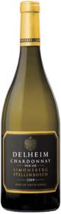 Delheim Sur Lie Chardonnay 2009, Wo Simonsberg Stellenbosch Bottle