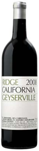Ridge Geyserville 2008, Sonoma County Bottle