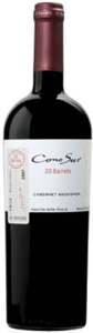 Cono Sur 20 Barrels Cabernet Sauvignon 2007, Maipo Valley Bottle