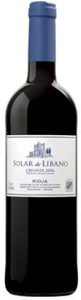 Solar De Líbano Crianza 2006, Doca Rioja Bottle