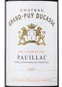 Chateau Grand Puy Ducasse 5eme Grand Cru Classe 2007, Pauillac Bottle